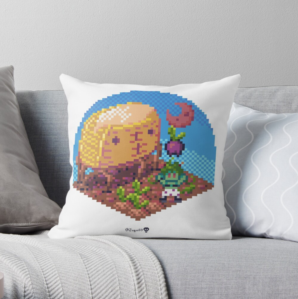 Phylla Harvest Moon Cube Throw Pillow