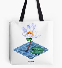 Water Lily Cube Tote Bag
