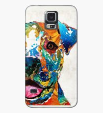 Colorful Dog Pit Bull Art - Happy - By Sharon Cummings Case/Skin for Samsung Galaxy