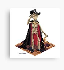Vincent, Prince of the Underdark - Skeleton Cube Canvas Print