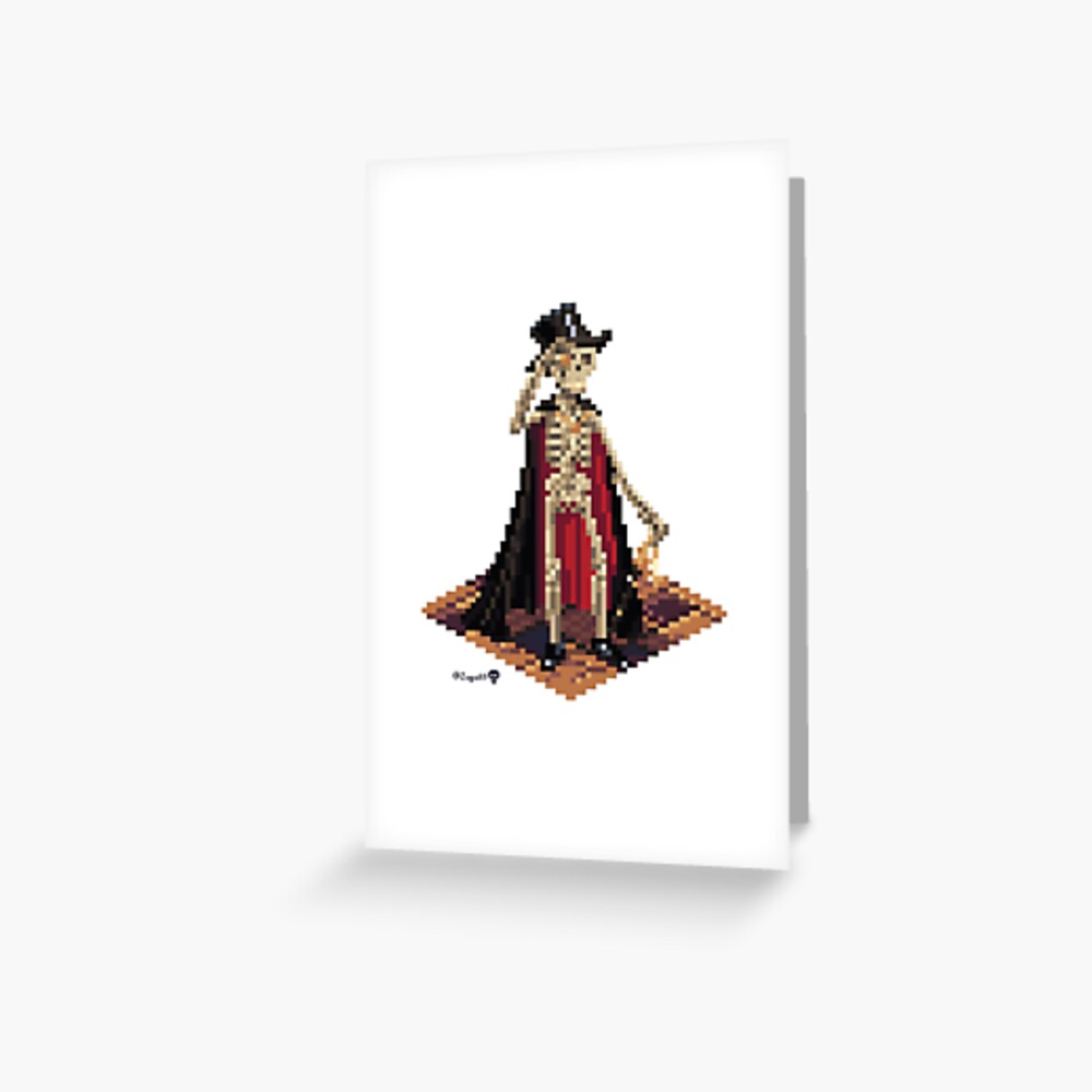 Vincent, Prince of the Underdark - Skeleton Cube Greeting Card