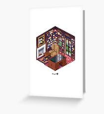 Office Cube Greeting Card