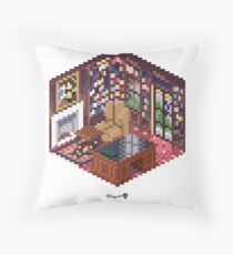 Office Cube Throw Pillow