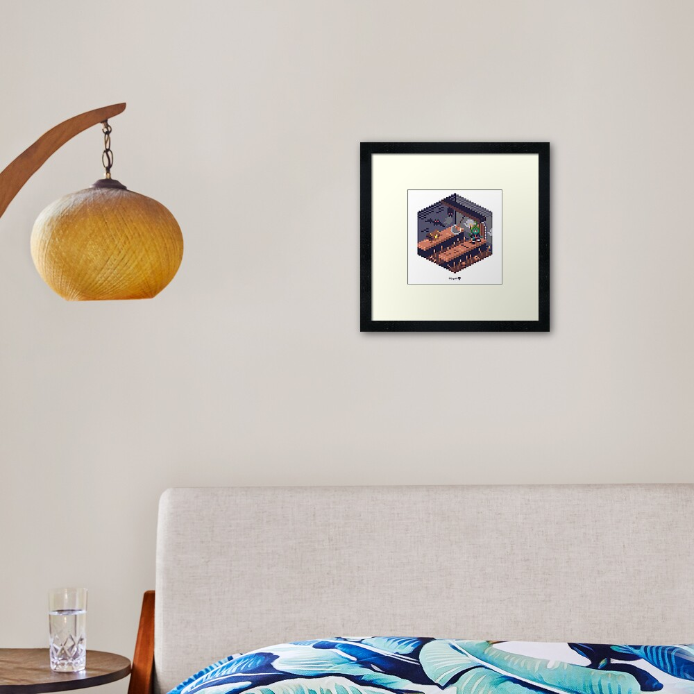 Phylla Dungeon Cube Framed Art Print