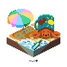 Crabby on the Beach Cube by Zugai