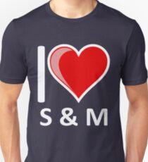 Ich liebe S & M S & M S und M Secret Santa Merchandise Slim Fit T-Shirt
