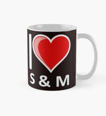 Komödie Ich liebe S & M S & M S und M Becher Tasse (Standard)