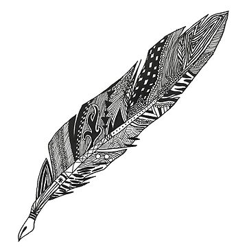 Feather - Zentangle by Chiswick