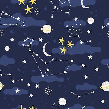 Cute space pattern design. by kostolom3000