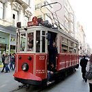 The traditional tram at Istanbul by bubblehex08