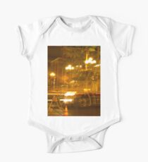 Abstract Night Photography - Night-Time Traffic Blurs Short Sleeve Baby One-Piece