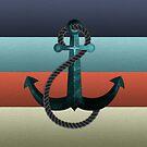 Seeanker Texturierte Flagge von kennasato