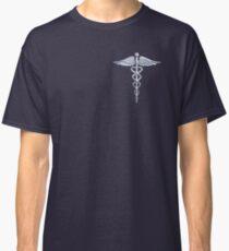 Chrome like Medical Caduceus Snakes Classic T-Shirt