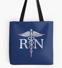 Registered Nurse Medical Caduceus Tote Bag