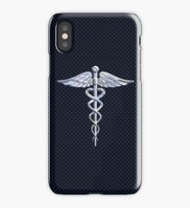 Chrom wie Medical Caduceus Snakes iPhone-Hülle & Cover