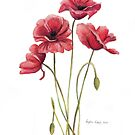 Red Poppies by Meaghan Roberts