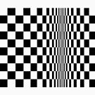 #Movement in #Squares, by Bridget Riley 1961, #chess, #tile, square, pattern, design, grid, mosaic, checkerboard, bank check, abstract by znamenski