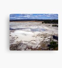 Paint Pots Landscape ~ Yellowstone National Park Canvas Print
