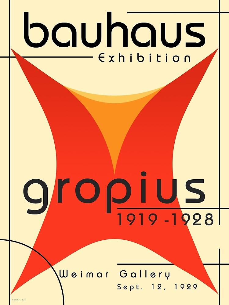 Bauhaus Poster of Walter Gropius Exhibition  by BLTV