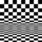 Movement in Squares, by Bridget Riley 1961, chess, tile, square, pattern, design, grid, mosaic, checkerboard, bank check, abstract by znamenski