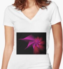 Dark Passion Spiral Women's Fitted V-Neck T-Shirt