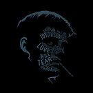 Ian Curtis von Joy Division (dunkel) von Van Roland