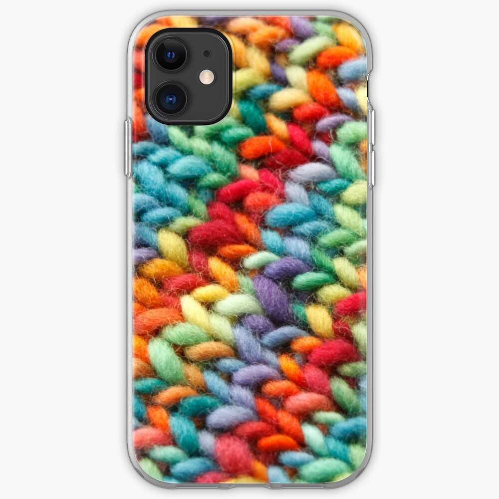 Knitting Rainbow fabric iPhone Case & Cover
