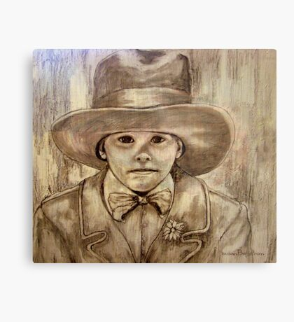 My Daddy's Hat Metal Print