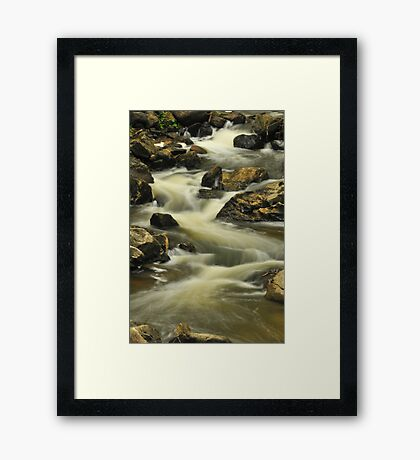 Waterfall - Old Chelsea, Quebec Framed Print