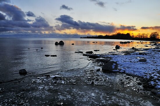 Sunset Shoreline - Amherst Island by Michael Cummings