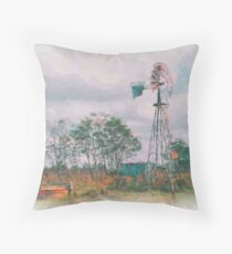 Windmill Painting1 Throw Pillow