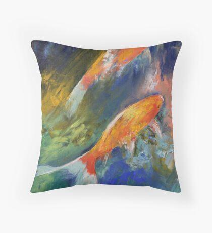 Two Koi Fish Throw Pillow