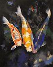 Three Koi Fish by Michael Creese