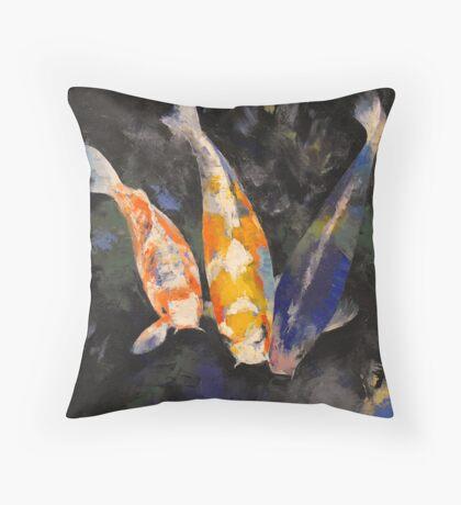 Three Koi Fish Throw Pillow