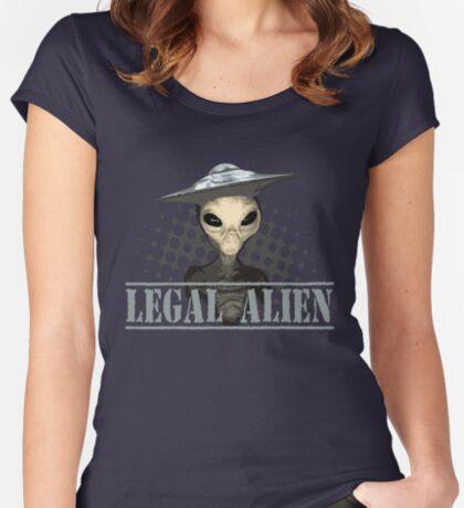 Alien t-shirt Women's Fitted Scoop T-Shirt