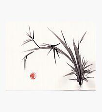"""Horizon""  original ink and wash bamboo sumi-e painting Photographic Print"