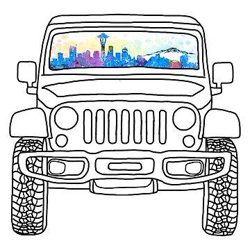 Jeep del horizonte de Seattle de abbyconnellyy