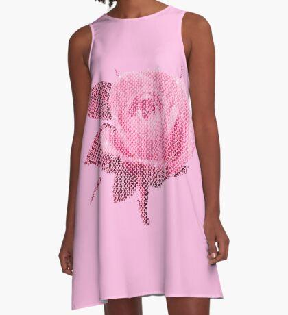 Rose pink A-Linien Kleid
