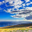 Windmills, Coast & Clouds by MightyGeekMan
