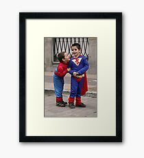 Super heroes!. Framed Print