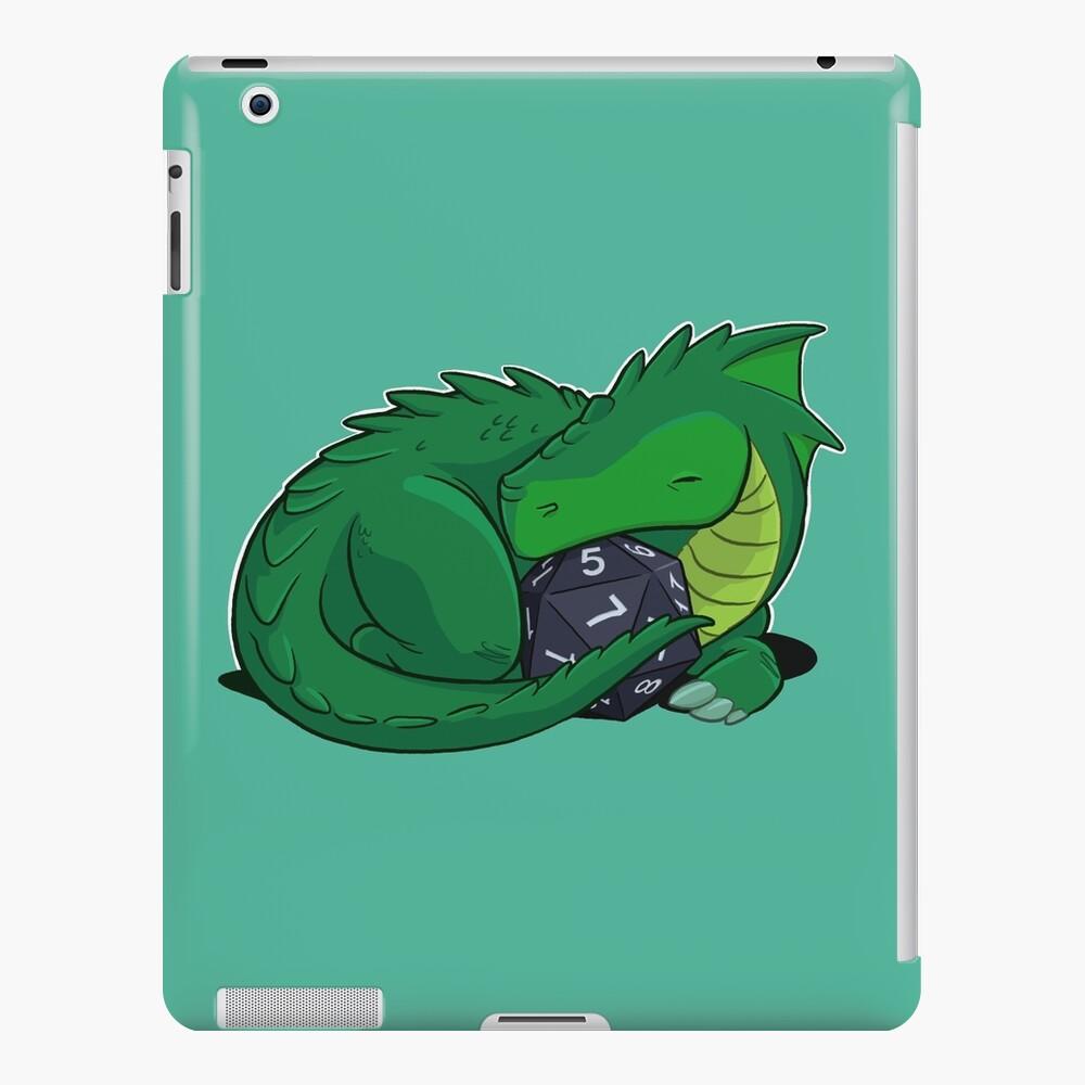 D20 Green Dragon iPad Case & Skin