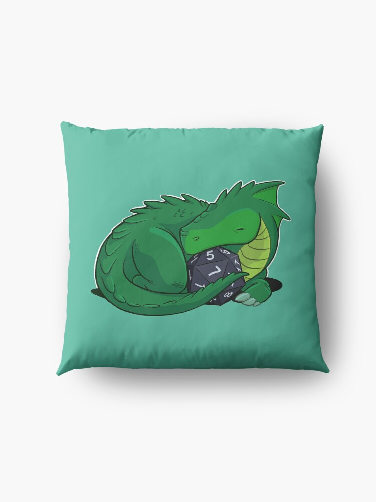 Alternate view of D20 Green Dragon Floor Pillow