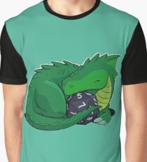 D20 Green Dragon Graphic T-Shirt