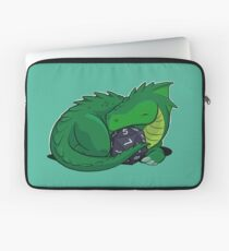D20 Green Dragon Laptop Sleeve
