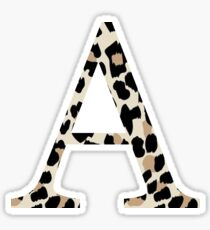 Cheetah Print Alpha Sticker