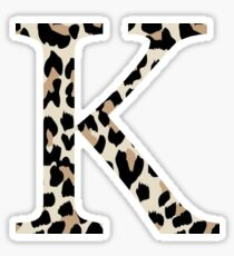 Cheetah Print Kappa Sticker