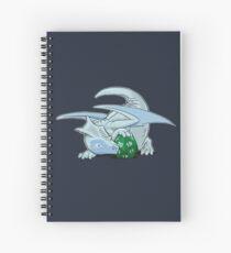 D20 White Dragon Spiral Notebook