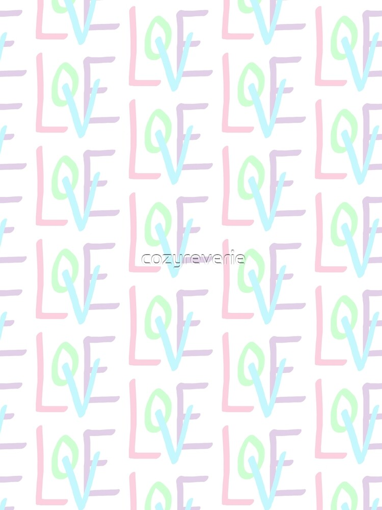 Love (Pastel Letters) by cozyreverie