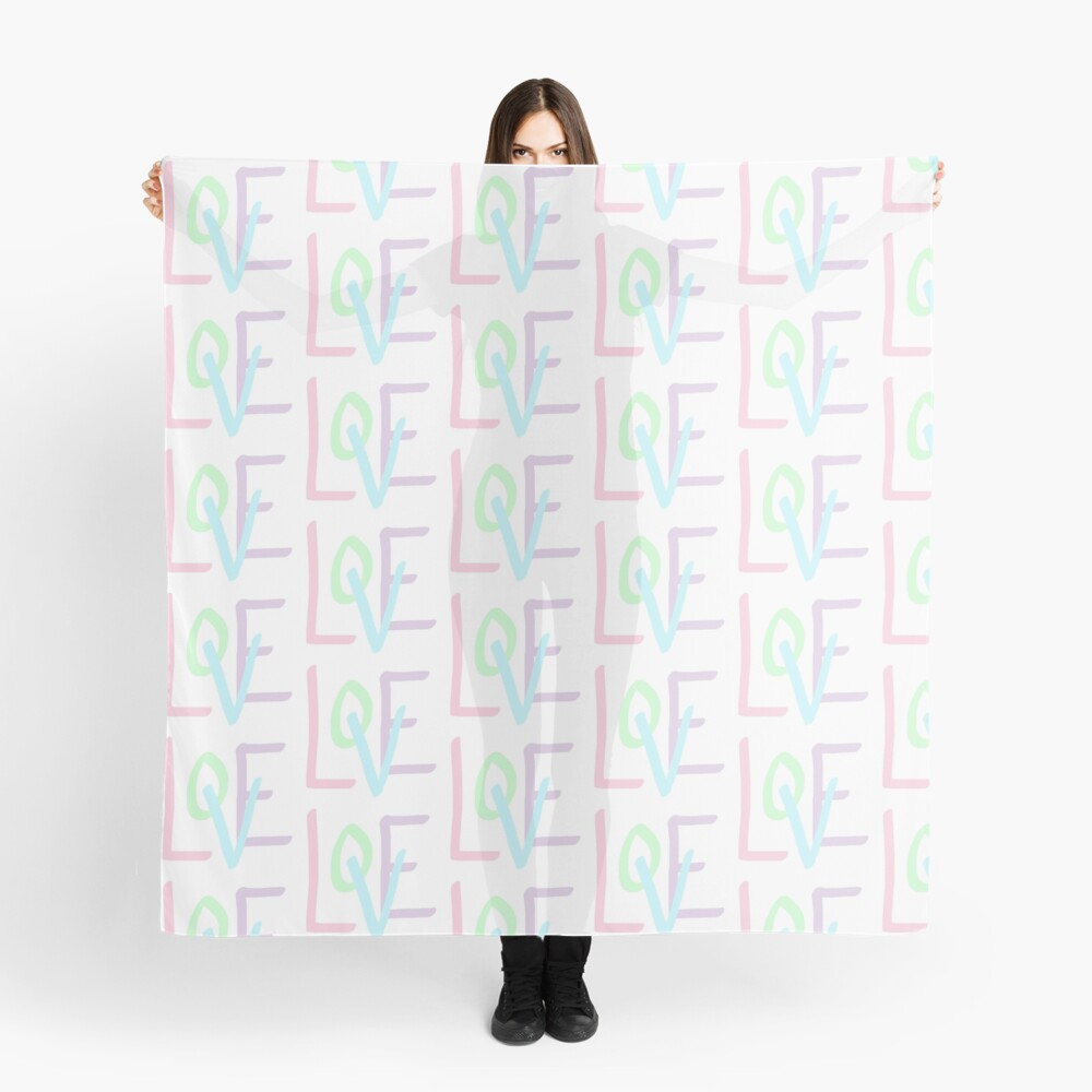 Love (Pastel Letters) Scarf