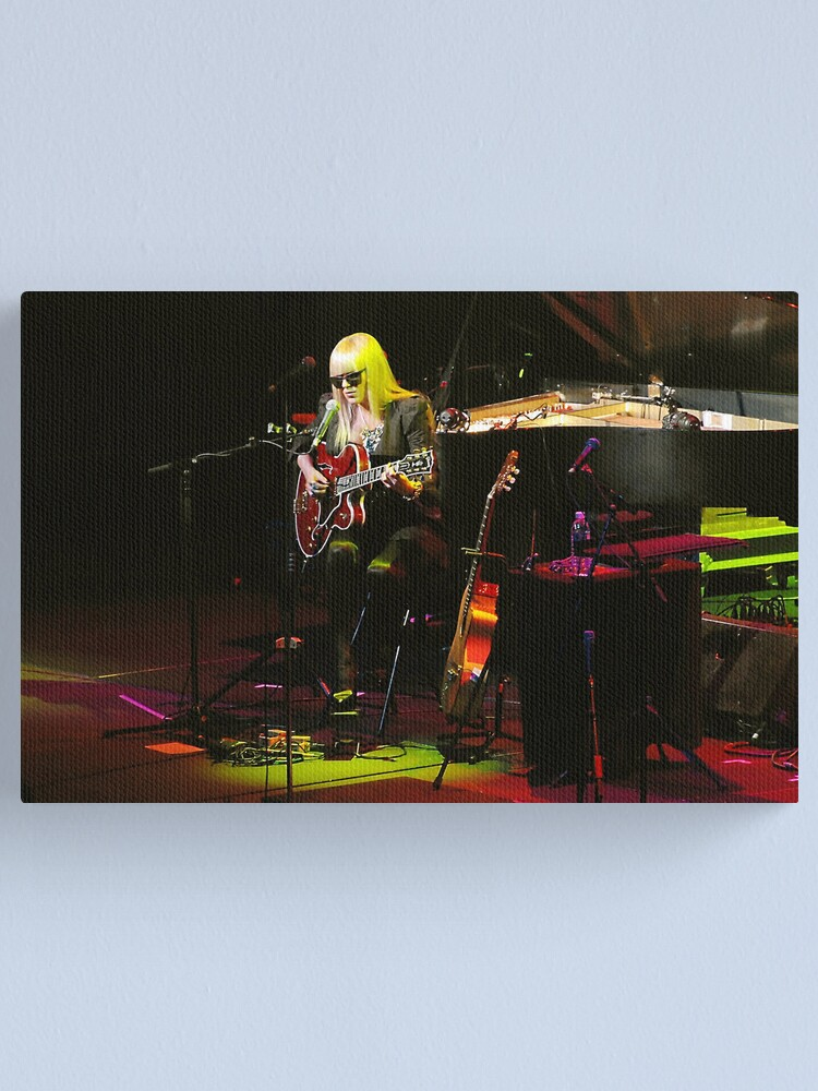 Alternate view of Melody Gardot in concert Canvas Print